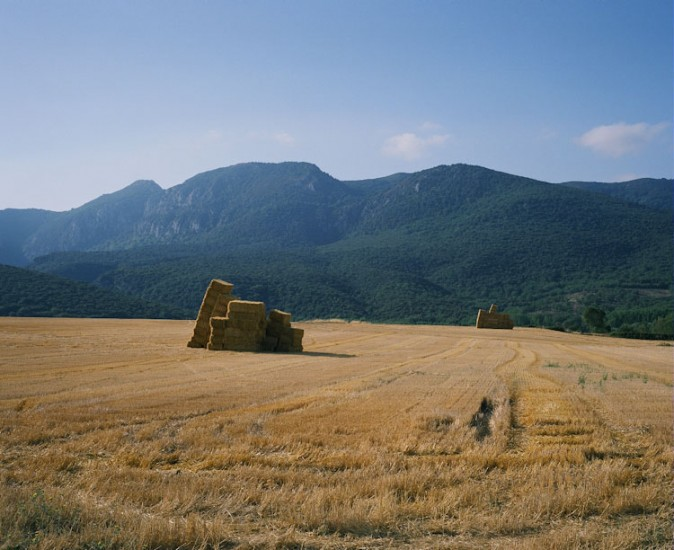Bale, Field, Mountain